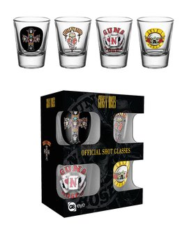 Guns n Roses - Shot Glass Set