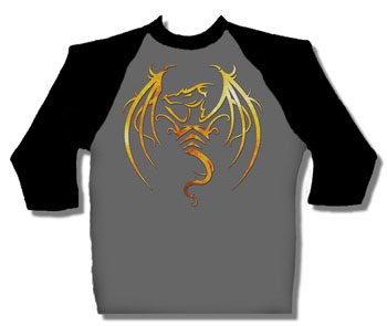Tribal Dragon baseball shirt