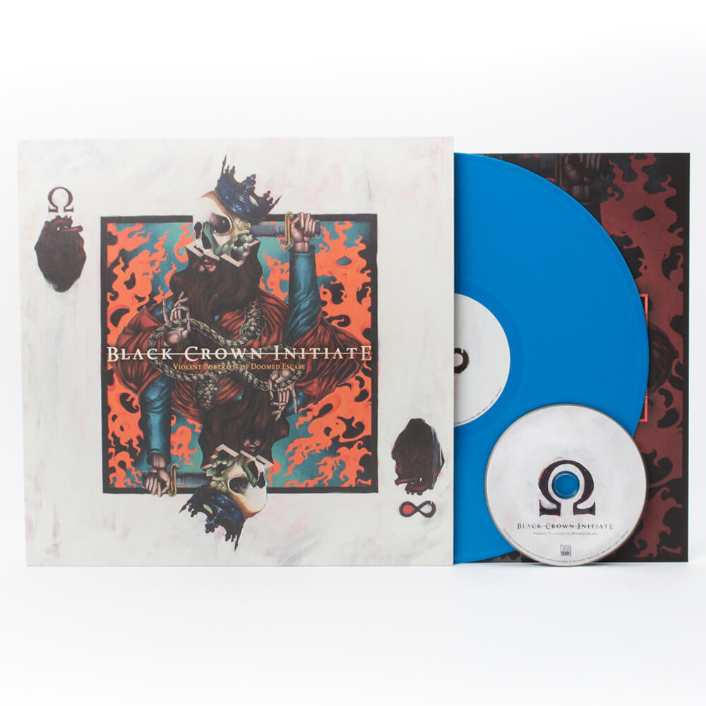 Black Crown Initiate - Violent Portraits of Doomed Escape 180gram Blue Vinyl + CD - only 200 worldwide!