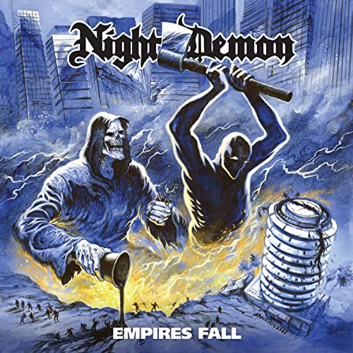 "Night Demon - Empires Fall 7"". White vinyl - 300 worldwide!"