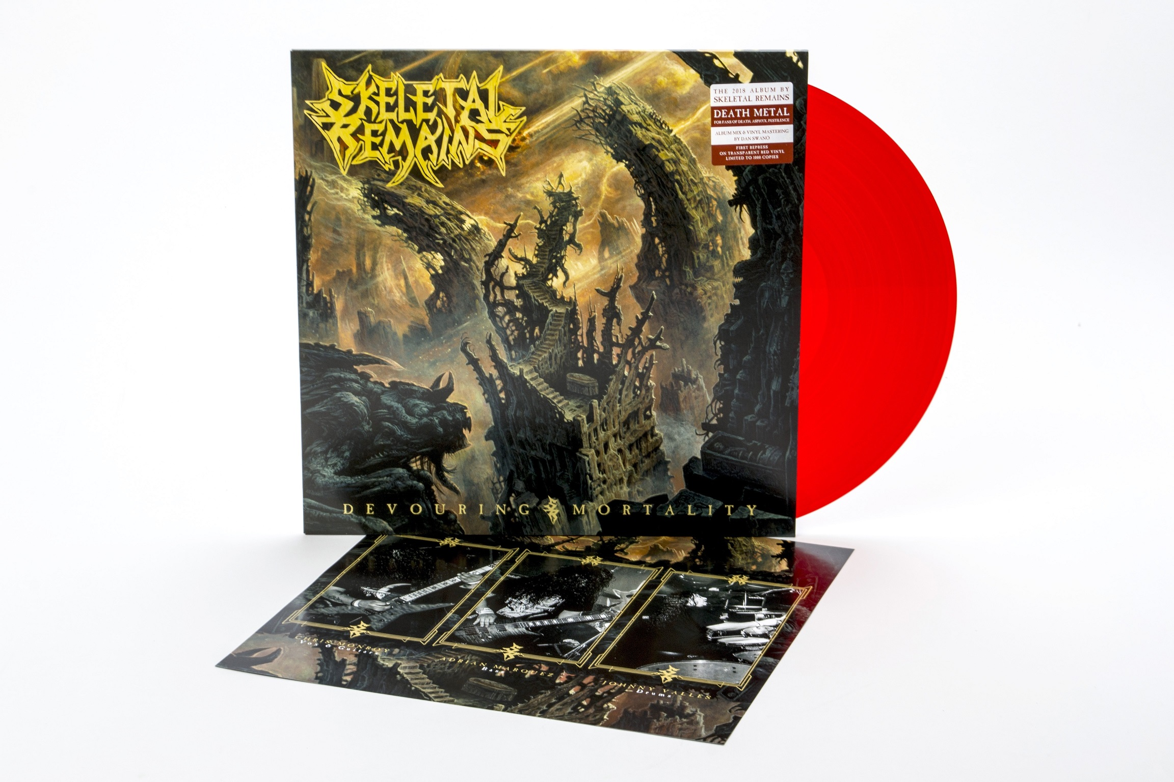Skeletal Remains - Devouring Mortality. Red Vinyl - only 1000 worldwide!