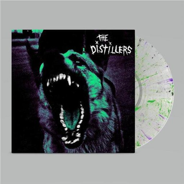The Distillers - THE DISTILLERS 20TH ANNIVERSARY EDITION LTD LP CLEAR GREEN, PURPLE AND BLACK.