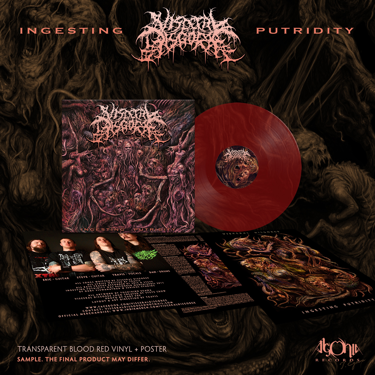 Visceral Disgorge - Ingesting Putridity (Red Vinyl) - only 172 worldwide!
